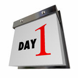 Day 1 One Calendar Date First Beginning Number Page. Day 1 One Calendar Date First Beginning Start Words Number Page Royalty Free Stock Images