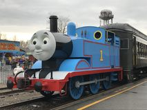 Day Out with Thomas at Essex Steam Train in Connecticut Stock Photos
