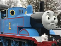 Day Out with Thomas at Essex Steam Train in Connecticut. As seen on April 23, 2017. This is an annual tour for a few weekends each year that Thomas the Tank Stock Photo