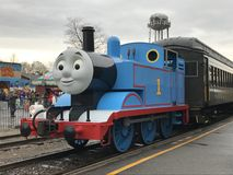 Day Out with Thomas at Essex Steam Train in Connecticut. As seen on April 23, 2017. This is an annual tour for a few weekends each year that Thomas the Tank Royalty Free Stock Photography