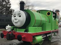 Day Out with Thomas at Essex Steam Train in Connecticut. As seen on April 23, 2017. This is an annual tour for a few weekends each year that Thomas the Tank Stock Image