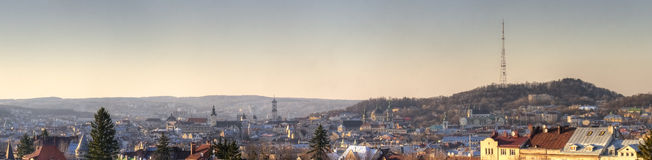 Day panorama of the old city Royalty Free Stock Photos