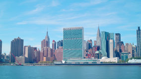 Day panoramic view on manhattan buildings 4k time lapse from nyc stock video