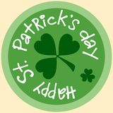 Day Patrick beer Mat coin icon symbol sticker. Day Patricks beer Mat coin icon symbol sticker green vector illustration