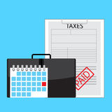 Day of payment taxes Stock Image