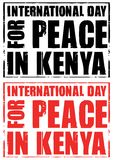 Day for peace in kenya Royalty Free Stock Photos
