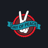 Day of Peace Logo. Vector Illustration. EPS 10 Stock Images