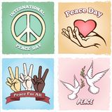 Day of Peace posters Royalty Free Stock Images