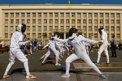 Day of Physical Culture and Sports in Uzhgorod Stock Image