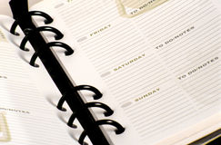 Day Planner. Open with room to write Royalty Free Stock Photos