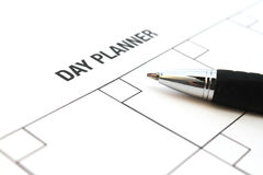 Day planner Royalty Free Stock Image