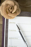 The day on planner page Royalty Free Stock Photo