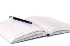 Day planner and pen Royalty Free Stock Image
