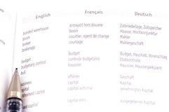 Day Planner translator macro. Object on white - office tool Day Planner translator Stock Photos