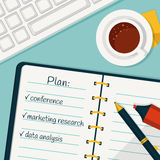 Day planning. Vector concept background. Stock Photo
