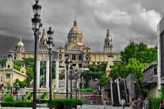 Day at the Plaza Espana. A nice day in the big colourful city,great architecture royalty free stock photography