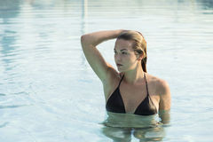 Day on the pool Stock Photography