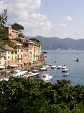 Day at Portifino. View of Portifino harbor on a sunny day Royalty Free Stock Photo