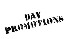 Day Promotions rubber stamp. Grunge design with dust scratches. Effects can be easily removed for a clean, crisp look. Color is easily changed Royalty Free Stock Image