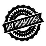 Day Promotions rubber stamp Stock Photography