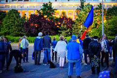Day 108 of protest, Bucharest, Romania Royalty Free Stock Image