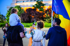 Day 108 of protest, Bucharest, Romania Royalty Free Stock Photo