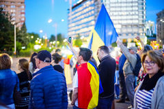 Day 108 of protest, Bucharest, Romania Stock Photo