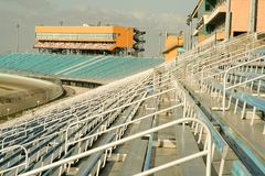 Homestead Miami Speedway. Interior showing empty seats in Homestead Miami Speedway stadium, Florida, U.S.A Royalty Free Stock Image
