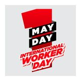 Day_red den internationella arbetaren för den Webmay dagen den internationella arbetaren för den isolatedmay dagen day_red isoler vektor illustrationer