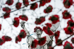 The day of remembrance and reconciliation in Kiev Stock Image