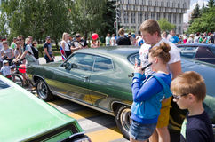 Day of Russia in Tula. Open car festival Freeway 2015 Royalty Free Stock Photos