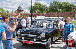 Day of Russia in Tula. Open car festival Freeway 2015 Royalty Free Stock Photo