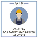 Day for Safety and Health at Work, April 28 Royalty Free Stock Photography