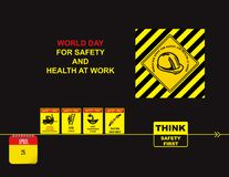 Day for Safety and Health at Work Royalty Free Stock Images
