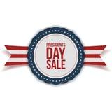 Day Sale总统与丝带的折扣标签 库存照片