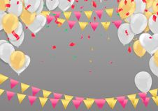 Day sale background.Romantic composition with hearts, balloons and beads. Vector illustration for website , posters,ads, coupons, stock photography