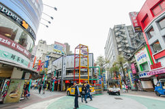 Day scene of the Ximending,Taiwan Stock Photos