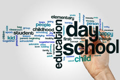 Day school word cloud Stock Images