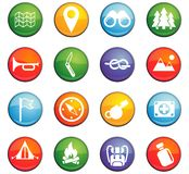 Day of scouts icon set. Day of scouts  icons for user interface design Stock Photos