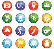 Day of scouts icon set. Day of scouts  icons for user interface design Royalty Free Stock Images