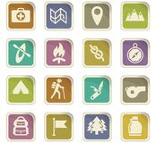 Day of scouts icon set. Day of scouts  icons for user interface design Stock Photography