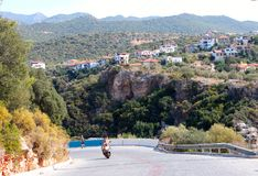 Day seaside town of Kas. In Turkey royalty free stock photos