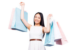 After a day shopping. Stock Images