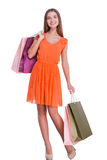 After a day shopping. Stock Photos