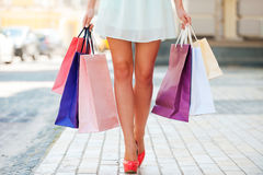 After day shopping. Stock Photography