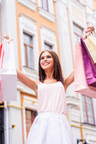 After a day shopping. Stock Photography
