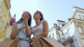 The day of shopping stock video footage