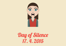 Day of Silence card Stock Image