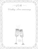 Day 25 silver wedding anniversary Royalty Free Stock Photo