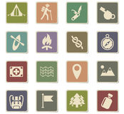 Day of skouts icon set. Day of skouts web icons for user interface design Royalty Free Stock Images